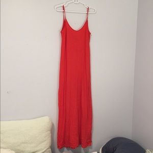 Orange/red Zara maxi dress